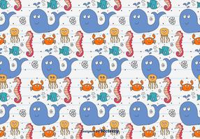 Doodle Sea Animals Pattern