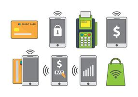 Free Mobile Payment Vector Icons