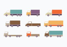 Colorful Flat Style Moving Van Collection
