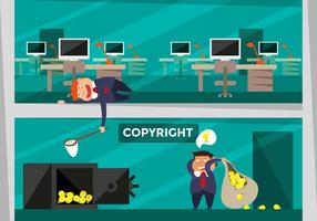 Copyright Concept Flat Illustration Vector