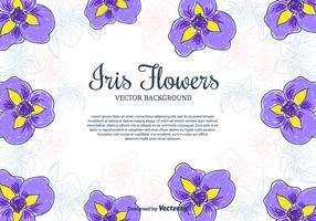 Iris Flowers Vector Background