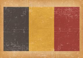 Flag of Belgium on Grunge Background