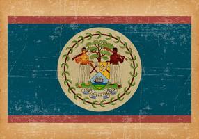 Flag of Belize on Grunge Background