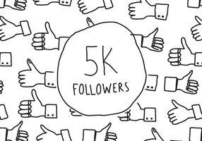 5K Followers Doodle
