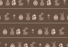 Brown Eggs & Rabbits Pattern