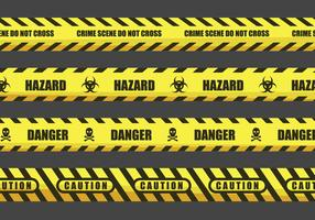 Caution and Danger Tape Illustrations