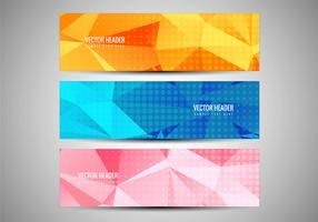 Free Vector Colorful Banners Set