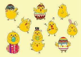 Easter Chick Cartoon Free Vector