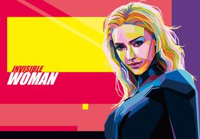 Invisible Woman vector WPAP