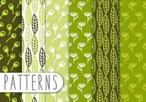 Decorative Green Leaf Pattern Set
