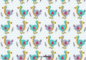 Cartoon Dodo Vector Pattern