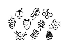 Free Berries Line Icon Vector