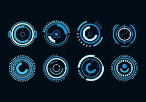 Free Circle Hud Futuristic Vector