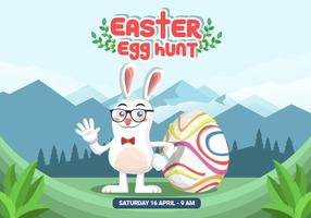 Easter Egg Hunt Vector Background
