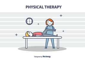 Physical Therapy Vector Illustration