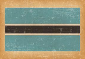 Grunge Flag of Botswana