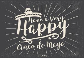 Typographic Cinco de Mayo Illustration