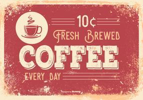 Vintage Retro Style Coffee Illustration