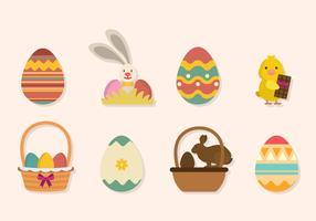 Flat Easter Vectors