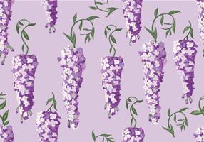 Wisteria Seamless Pattern Vector