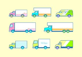 Flat Icon Moving Van Free Vector