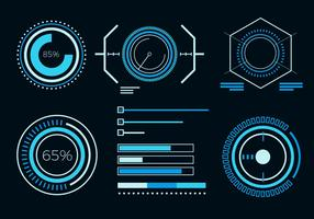 Free Abstract HUD UI Element Vector