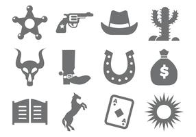 Free Cowboy Icons Vector