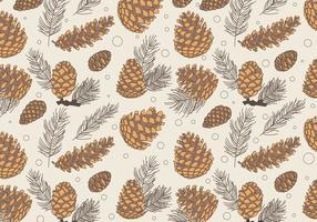 Pine Cones Pattern Classic Vector