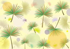 Palmetto Leaf Hipster Pattern Vector