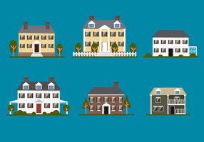 Old Colonial Home Vector