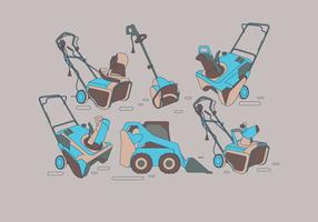 Teal Snow Blower Vectors