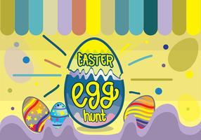 Colorful Easter Egg Hunt Funky Pop Background
