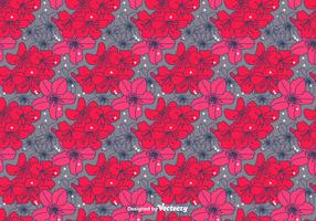 Hand Drawn Rhododendron Vector Pattern