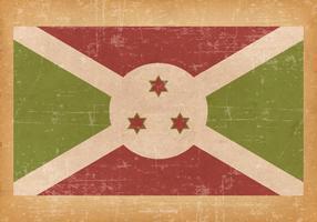 Falg of Burundi on Grunge Background