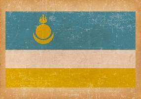 Falg of Buryatia on Grunge Background