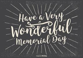 Typographic Happy Memorial Day Illustration