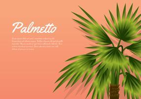 Palmetto Peach Background Free Vector