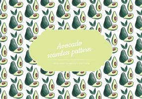 Vector Hand Drawn Avocado Seamless Pattern