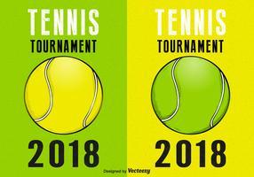 Tennis Tournament Retro Vector Posters