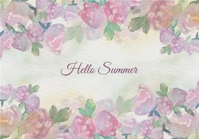Free Vector Watercolor Summer Floral Vintage Illustration