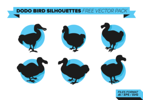 Dodo Bird Silhouettes Free Vector Pack