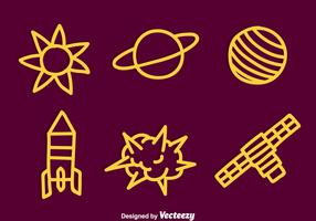 Hand Drawn Space Element Vector