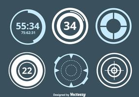 Circle Hud Element Collection Vector