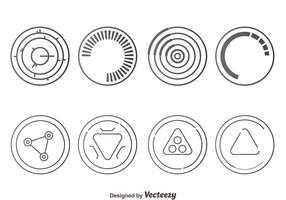 Grey Hud Visual Eement Vectors