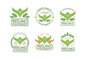 Physiotherapist Green Logo Free Vector