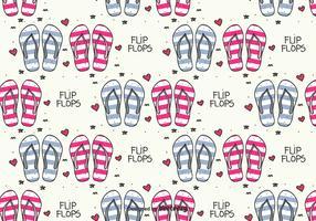 Doodle Flip Flops Vector Pattern