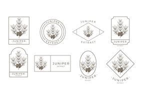 Juniper Outline Logo Free Vector