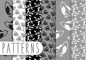 Blak And White Pattern Set