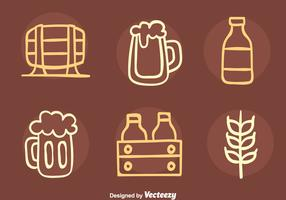 Nice Beer Element Sketch Icons Vector