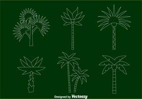 Palm Tree Line Vectors